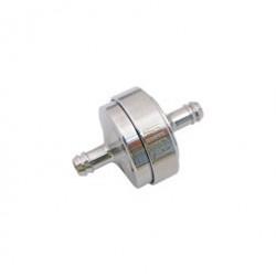 FILU Benzinfilter - Alu chrom eloxiert für Benzinschlauch 5x8,2 mm