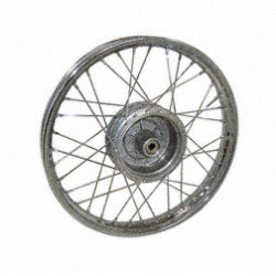 Speichenrad 1,5x16 Zoll - Stahlfelge, verchromt + Chromspeichen