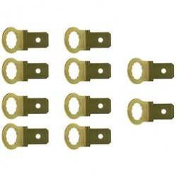 VPE 10x Flachstecker, Kontaktzunge, Masseverbindung - 6,3 x 0,8 mm