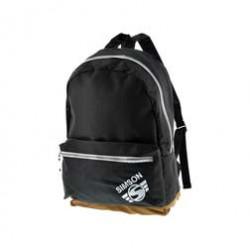 Urban Rucksack, schwarz, braune Unterseite, verstellbarer Gurt, Motiv: SIMSON