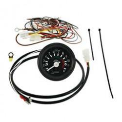 Elektronischer, induktiver Drehzahlmesser ø60 mm in DDR-Optik für VAPE-Zündung