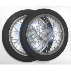 Simson 2x Komplettrad Alu Felge Rad Räder Reifen S51 Schwalbe KR51 breit 1,6x16 VRM094